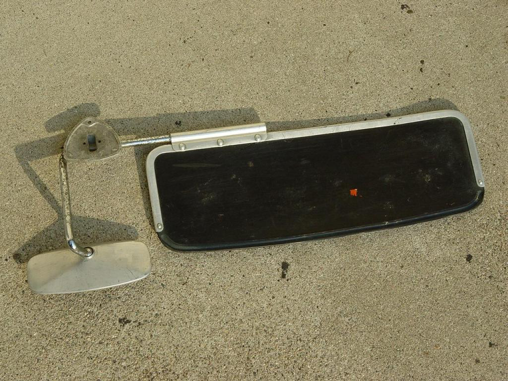 VW Beetle Rearview Mirror with Visor - $55