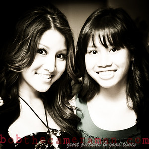 Jasmine Trias and her sister Neolani.