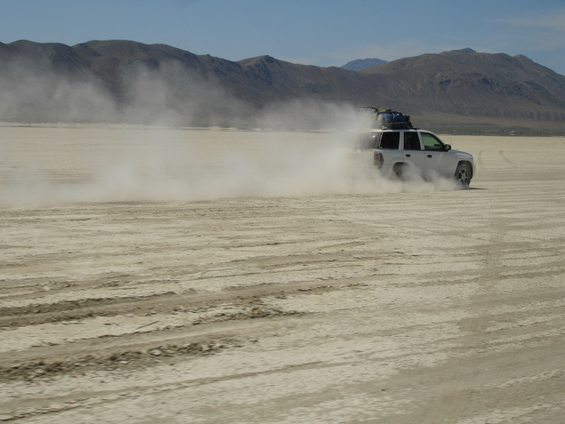 no speed limits on the playa make for lots of fun and danger.