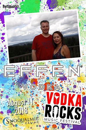 Vodka Rocks! The 2018 Vodka Rocks Music and Vodka Festival at Snoqualmie Casino Featuring Effen Vodka - Tonight We PartyBooth!