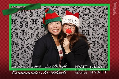 Seattle Photo Booth: Grand Hyatt Seattle Supports Communities In Schools. Tonight We PartyBooth!