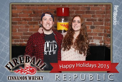 Celebrating Birthdays and The Holidays with Fireball Whisky at Seattle's RE:PUBLIC