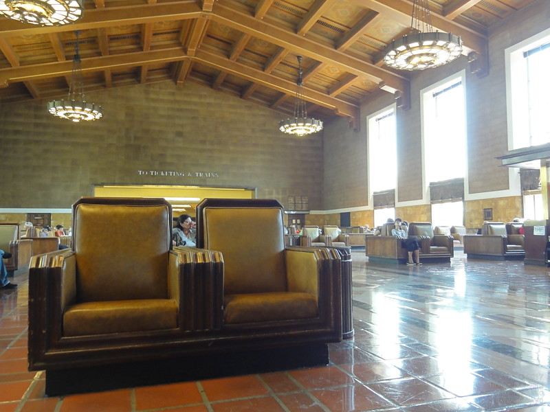 You don't need bahncard comfort for this waiting area in Union Station Los Angeles.