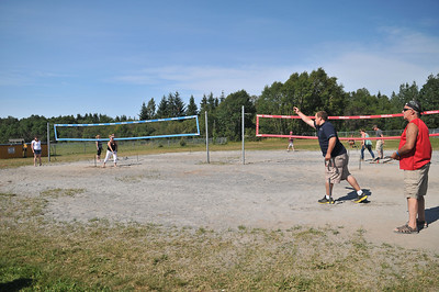 Adult Horseshoe Tournament on the Volleyball Courts