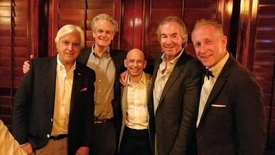 Past Speakers Bob Baffert, Tom Gammill, Mike Smith, host Gregg Smith and Kenton Nelson