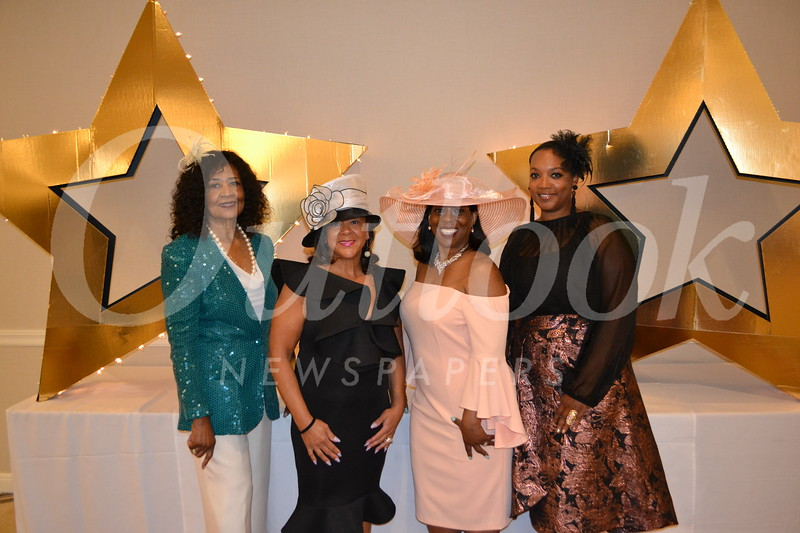 Joyce Sniffen, Char Bland, Ashana Thorman and emcee Regina Robertson, Essence Magazine West Coast editor.