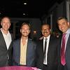 Nathan Ackeret, guest speaker Nick Vujicic, Bombay Teen Challenge founder K.K. Devaraj and Andrew Yeghnazar