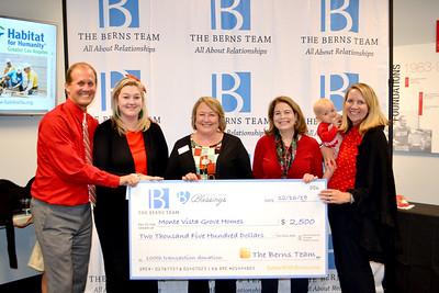 Berns Team Gives Back to Nonprofit Organizations