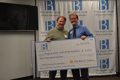 John Wilson of Boys and Girls Club of the Foothills and Jason Berns