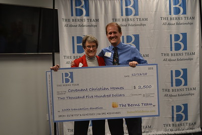 Dianne Whiting of Covenant Christian Homes and Jason Berns
