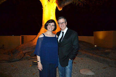 Hosts Margaret and David Mgrublian