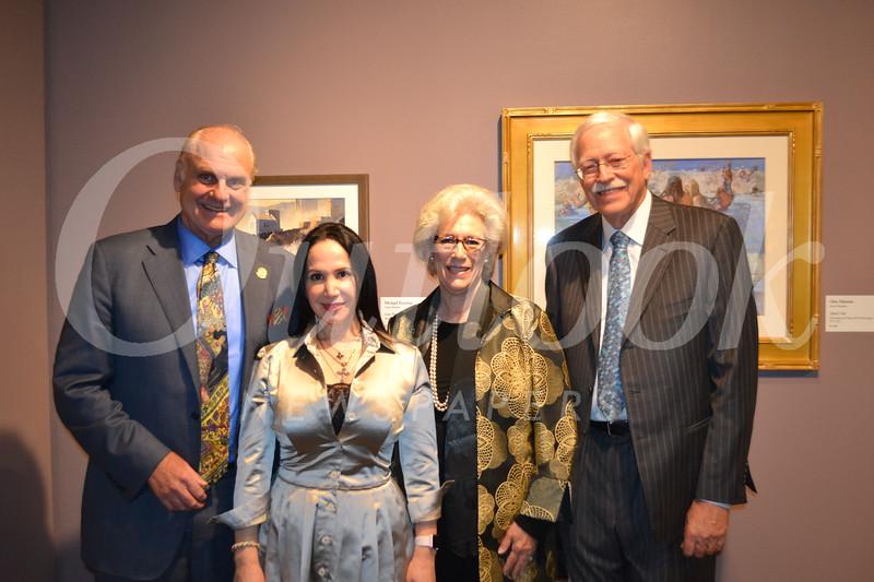 Board member Peter and Executive Director Elaine Adams with Caroline and board member Donald Baker