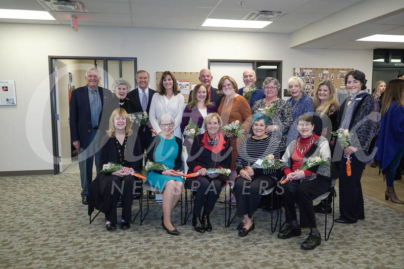 Vicki Laidig (front row, from left), Peggy Smith, Charlotte Streng, Rosemari Annear and Arlene Harder. Back: Loren and Alice Brodhead, Michael Healy, Patricia Ostiller, Suzanne and Brian Gilman, Meg Symes, Sean Townley, Laura Wending, Marguerite Marsh, Melissa Alcorn and Louise Wannier.