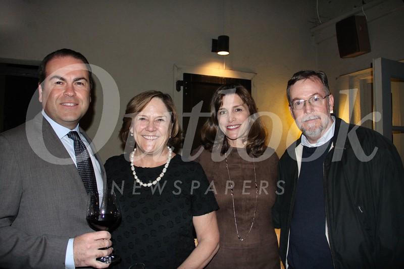 Serge Melkizian, Executive Director Meg Symes, Patricia Ostiller and Tom Daly