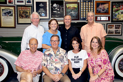 Aaron Weiss (front row, from left), John Flynn, Meshell Holdo and Danielle Gay. Back: Tom Mills, CSCP Executive Director Meg Symes, board President Michael Healy and Brad Talt.