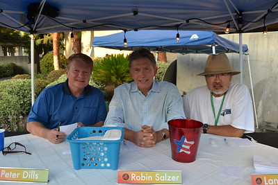 Chili Cook-Off judges Peter Dills, Robin Salzer and Lance Ito