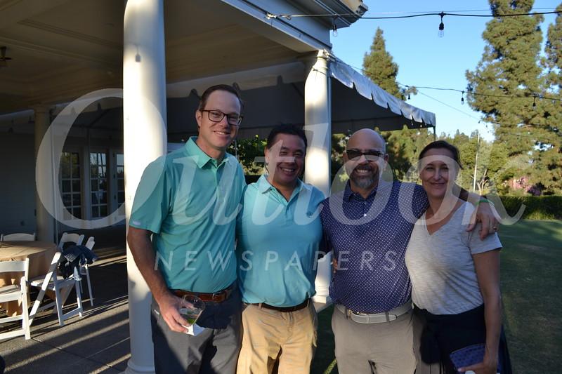 Bob Rodger, Brad Lew, and Steve and Ceinwyn Clark