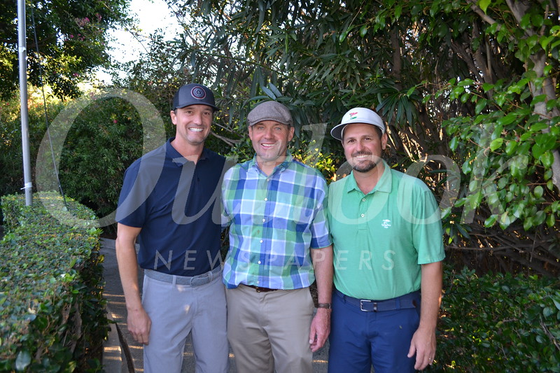Head of School John Finch (center) with event co-chairs <br /> Joe Mallinger and Mike Ortiz