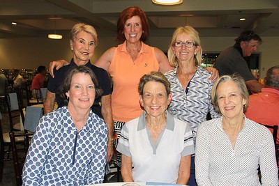 Julie Gallant (seated, from left), Judy Gain and Lisa Kenyon. Back: Lynn Dotts, Martha Marcon and Ursula Moore.
