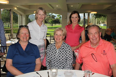 Anita Yagjian (seated, from left) with Cindy and Dr. Bob Beart. Back: Jeanette Martin and Kathy Goodwin.