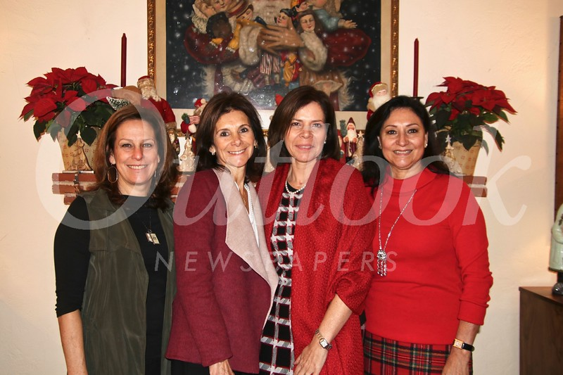 Hostess Julianne Coppersmith, brunch co-chairs Rossana Cacho-Sousa and Julieta Bennett, and society President Laura Aguirre