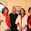 R-Lene DeLang, Mary Jane Alexander, Father Marcos Gonzalez, Virginia Jones and Barbara Voor