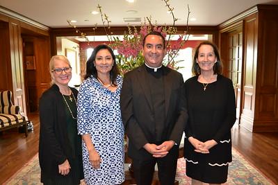 Mary Nally Ternan, Laura Aguirre, Fr. Paul Sustaya and Mary Mather Nally