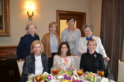 Connie Harding (front row, from left), Angela Loewel and Valerie McAndrews. Back: Mimi Butler, Mary Baxter, Athena Wood and Terry Nally.