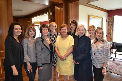 New members Eileen Milnes-Collins (front row, from left), Agnes Centurioni-Daws, Gloria de Olarte, Chris Dietrich, Mimi Butler and Maria Sarry. Back: Sara Nowak, Laurie Yockey and Diane Collison.