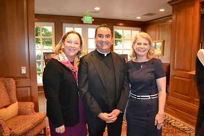 Susie Baggot, Father Paul Sustaya and Sheridan Link