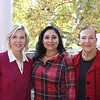 Open House co-chairs Megan Hernandez and Laura Aguirre, who is also the group's president, with host Ann Miller