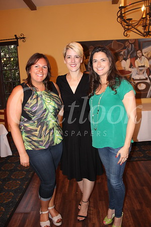 Amy Hasquet, current president Tricia Nur and Susan Ochoa