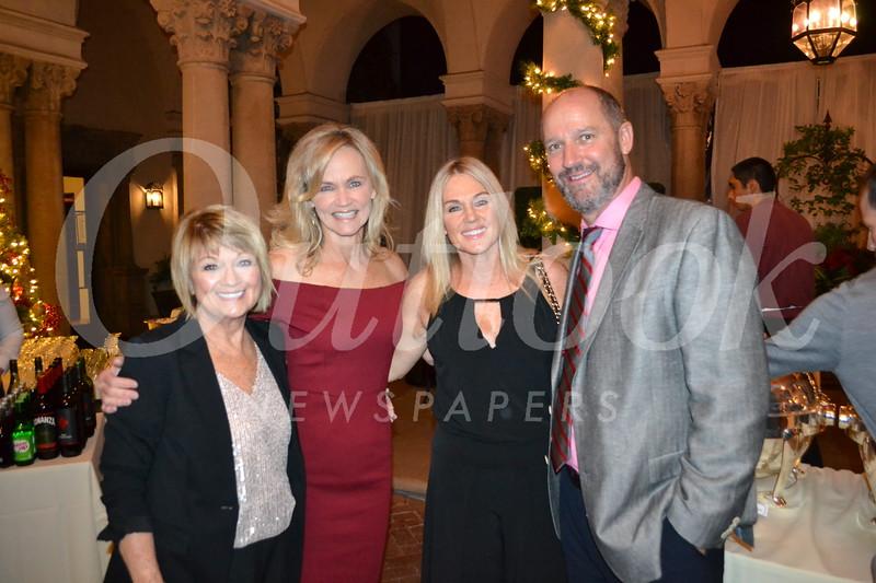 Claudia Storey, Amy Ellis, and Robin and Tim Cragoe
