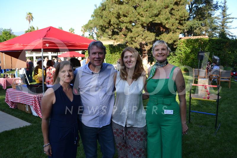 Event chair Jennifer Thibault, hosts Rick and Elise Wetzel, and Executive Director Mo Hyman