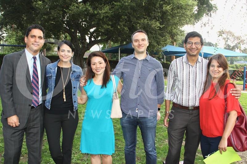 Reza and Shar Pishva, Claire Chung, David Green, and Adesh and Pooja Rathi