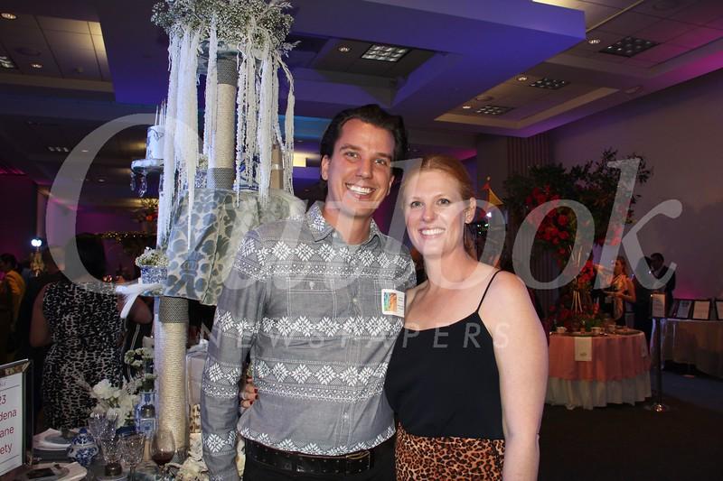 Pasadena Humane Society table designer Paul Heintz and his wife, Becky