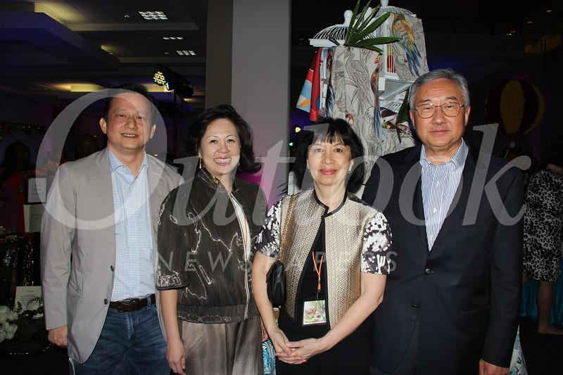 Edward Gunara, Julie Benniardi and Debbie and Paul Ouyang