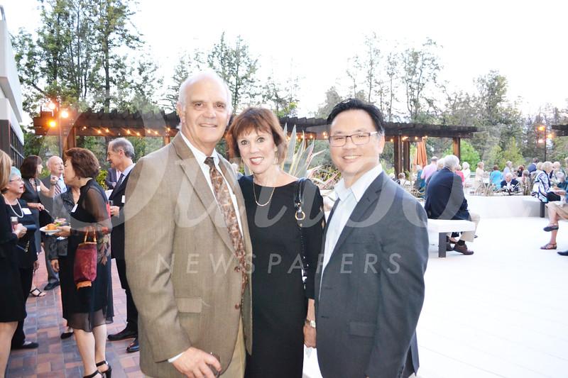 Dr. John and Tisha Irvine with Dr. Hugo Hsu