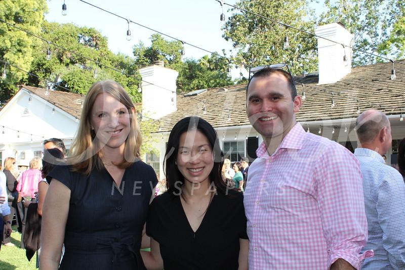Executive Director Megan Katerjian with Palin and Todd Samuelson