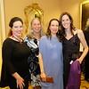 Rebecca Sjowall, the Rev. Cindy Frost of La Cañada Presbyterian, Marian Partee Lamb and Christina Thomas