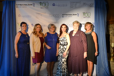 Kali Ratzlaff, Angie Minasian, Elizabeth House Executive Director Debbie Unruh, Tifany Goodwin VanCamp, Terry Bright and Kristen Michelson