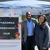 Pasadena Vice Mayor Elect Tyron Hampton and event coordinator Pricilla Hernandez