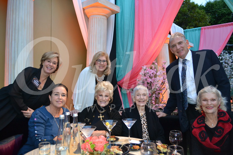 Colleen Evans (seated, from left), Valerie Foster Hoffman, Alyce Williamson and Joni Smith. Back: Jane Haderlein, Dr. Lori Morgan and Mike Moyses.
