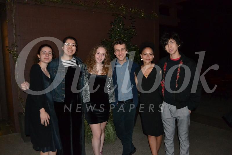 Teen Lead honorees Sosi Day, Olivia Molina-King, Mia McKinney, Eli Grossman, Cleo Bluthenthal and Riley Nice