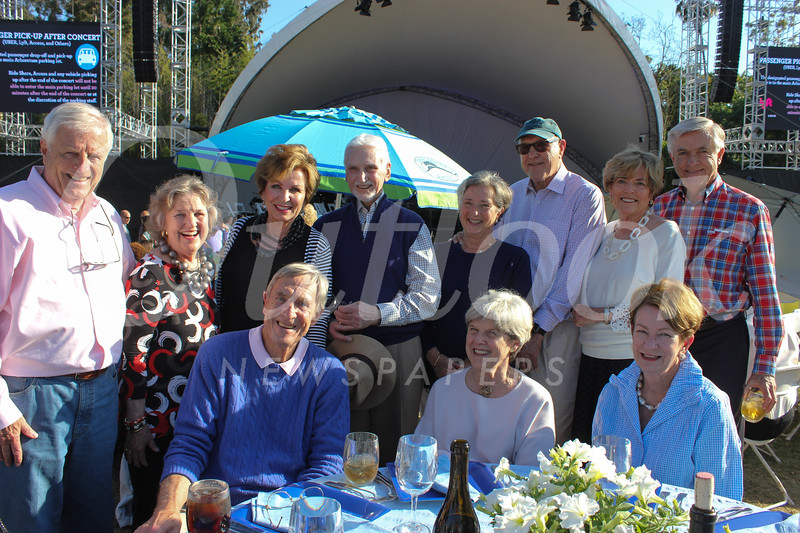 Ted Grace (front row, from left), Marcia Grace and Tink Cheney. Back: Barry Jones, Joni Baker, Becky and Bill Garnett, Maryann Mielke, Dan Baker, Linda Massey and Larry Mielke.