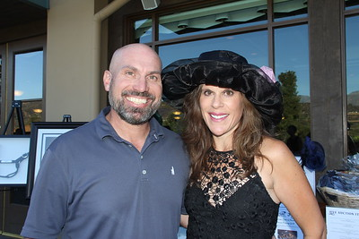 Auction co-chair John Berger and his wife, Jennifer