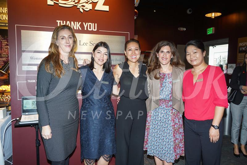 Rachel McClements, Elizabeth Gonzalez, Five Acres CEO Chanel Boutakidis, Jennifer Berger and Chinling Chen