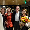Chantel Bennett, Molly Bachmann, Head of School Peter Bachmann and Shirley Xue