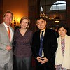 Headmaster Peter Bachmann and wife, Molly, with honorees David Dai and Winnie Wang