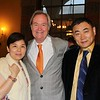 Head of School Peter Bachmann (center) with honorees Winnie Wang and David Dai